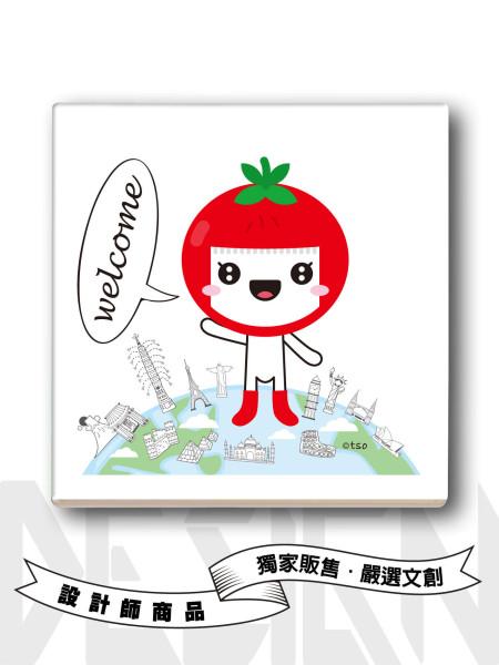 小番茄旅行吸水杯墊