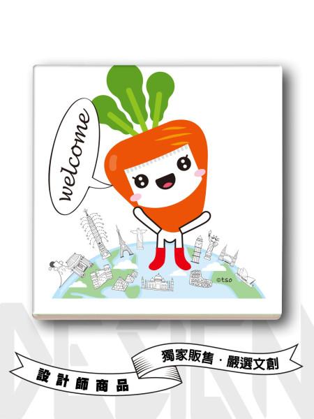 小紅蘿蔔旅行吸水杯墊