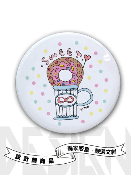 甜甜圈在一起圓形鏡盒