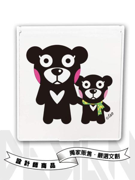 Black bear黑熊嘿嘿嘿矩形鏡盒
