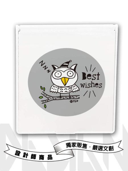 Best wishes貓頭鷹矩形鏡盒