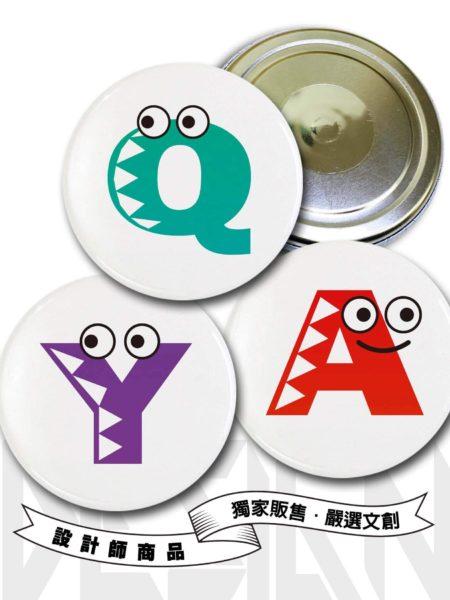 A-Z英文字母胸章磁鐵款